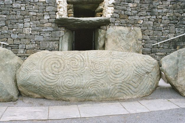 Entrance to New Grange Passage Tomb, Ireland